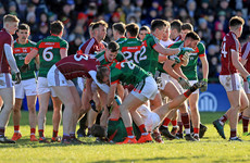 Galway enjoy third straight win over 13-man Mayo in heated encounter