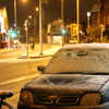 Icy conditions have led to treacherous roads and some bus cancellations this morning
