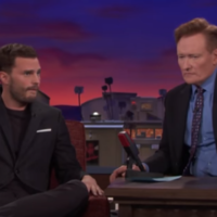 Jamie Dornan expertly showed Conan O'Brien how to do a perfect 'blue steel' to camera