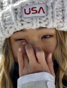 American prodigy melts hearts with tearful snowboarding gold