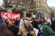 'We're gonna need a better boat': Tory Island protest outside Leinster House