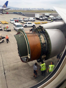 United Airlines plane forced to make emergency landing after engine cover rips apart mid-flight