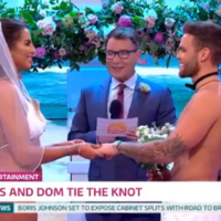 Jess and Dom from Love Island got married in swimsuits on Good Morning Britain