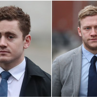 Alleged rugby rape victim was 'crying and sobbing' in taxi, court hears