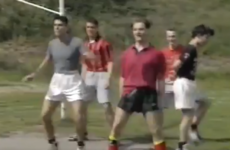 People cannot get over this 1994 footage of Boyzone rehearsing beneath some goalposts