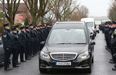 Hundreds of gardaí turn out to form guard of honour at Superintendent Colm Fox's funeral