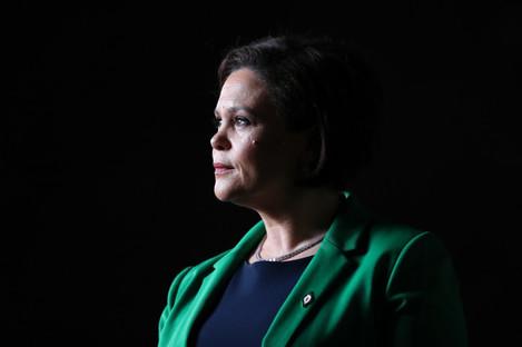 Sinn Fein's president Mary Lou McDonald