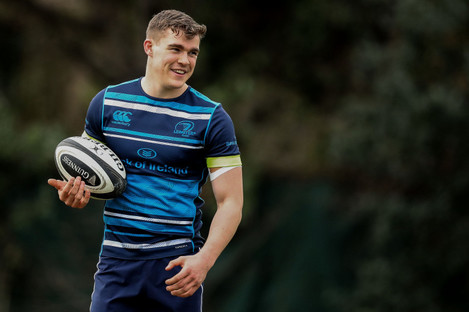 Ringrose trained with Leinster in UCD yesterday.