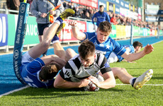 Mary's survive grandstand finale to see off gallant Roscrea in nine-try thriller