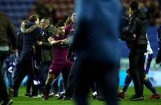 Man City consider legal action against fan who allegedly spat at Aguero and said 'suck my d**k'
