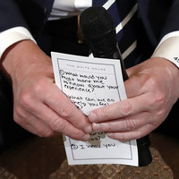 Here is what Trump's notes for meeting with shooting survivors said