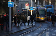 The Luas goes at a 'slow jogging pace' through Dublin city