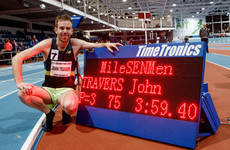 Irish athlete runs sub-four-minute mile indoors on home soil for the first time