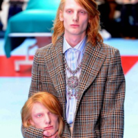 Everyone is making the same joke about Domhnall Gleeson and Gucci's severed heads at Milan Fashion Week