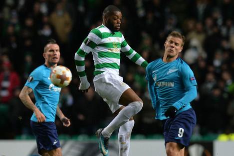 Celtic's Oliver Ntcham in action.