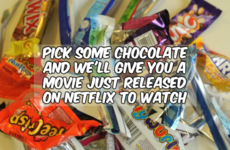Pick some chocolate and we'll give you a movie just released on Netflix to watch