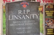 Linsanity is now dead, according to the New York press