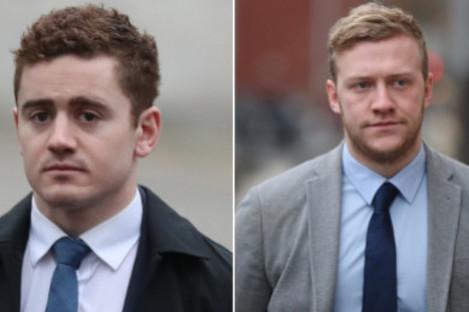 Jackson (left) and Stuart Olding.