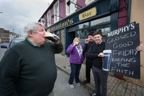 Scanlon's bar are happy to be closed on Good Friday.
