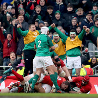 Grand Slam hopes alive as Ireland notch bonus-point win against Wales