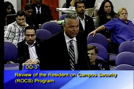 This image  taken from video provided by Broward County Public Schools shows school resource officer Scot Peterson.