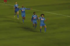 Waterford's French midfielder Bastien Hery scored a peach last night