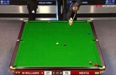 One of the maddest frames of snooker you'll see was played at the Welsh Open last night