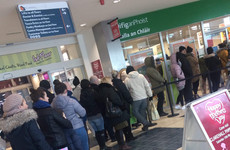 Large queues formed outside post offices ahead of lunchtime shutdown