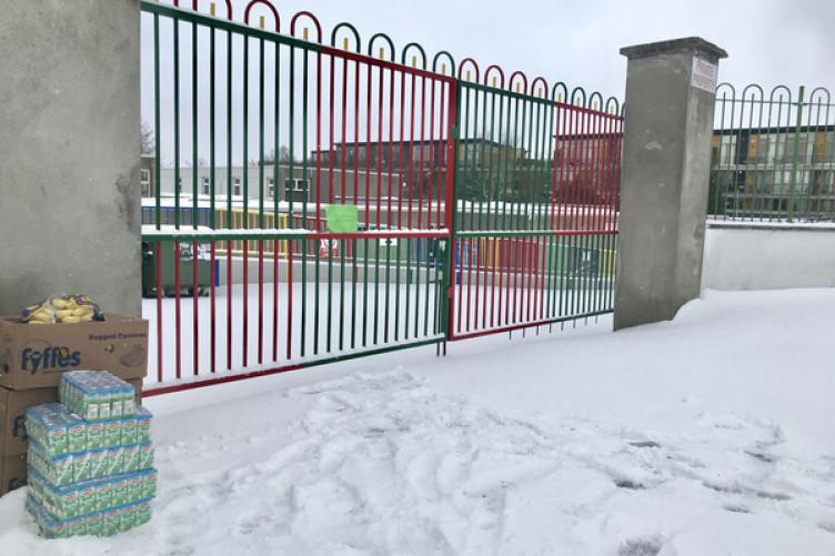 Saint Brigid's School in Glasnevin, Dublin last Wednesday morning.