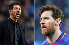 Simeone: 'If we take Messi and put him in an Atletico shirt, we win'