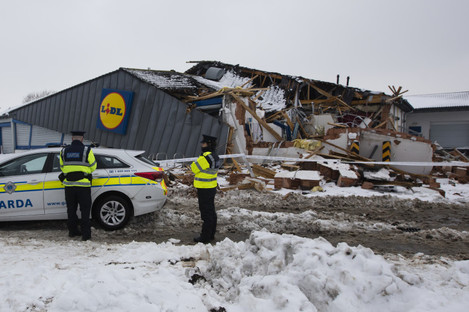 Lidl on Fortunestown Lane following Friday's incident
