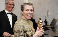 Man arrested after Frances McDormand's best actress Oscar stolen