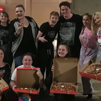 Ed Sheeran sent a rake of pizza to fans who have camped outside venue for two days