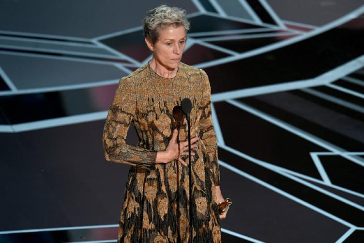 Actor Frances McDormand accepts the Best Actress award.