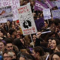 'Unacceptable sexist behaviour': Spanish women stage unprecedented strike for rights