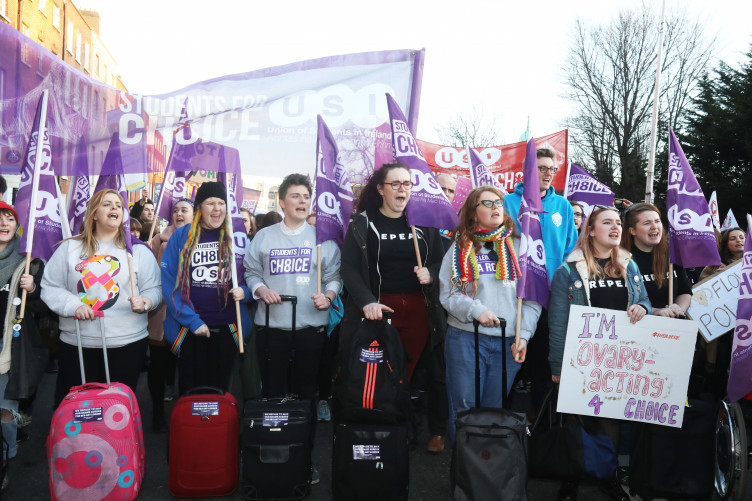 Members of the USI attending the march this evening