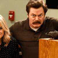 Amy Poehler and Nick Offerman are reuniting for the most wholesome show of all time