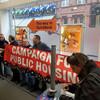 Grafton Street branch of PTSB occupied by anti-vulture fund demonstrators