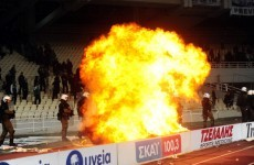 Athens derby abandoned due to crowd violence
