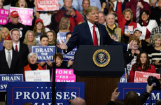 Donald Trump debuted his 2020 campaign slogan to a cheering crowd last night
