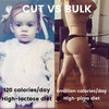 This girl's hilarious 'cut and bulk' transformation needs to be seen to be believed