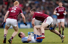Galway book Division 1 league final place with victory over 14-man Monaghan
