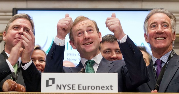 Thumbs up! Taoiseach rings opening bell at New York Stock Exchange