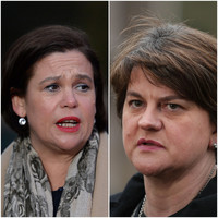 Mary Lou and Arlene haven't been invited to the White House - but Gerry Adams and Ian Paisley Jr have