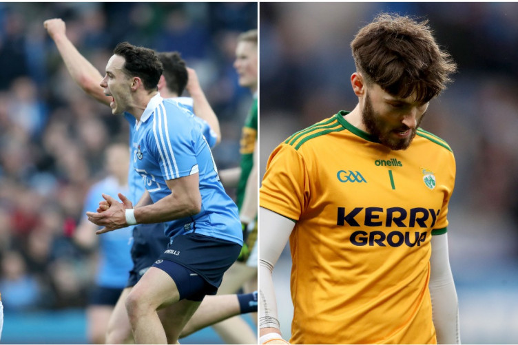 Contrasting emotions for Dublin and Kerry yesterday.