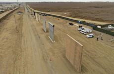 Donald Trump will today visit the eight towering prototypes for his 'big beautiful border wall'