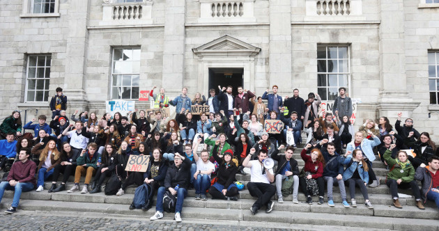 Trinity students occupy building and block entrances in protest against exam resit fees