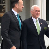'A very nice gesture': Mike Pence tells Leo Varadkar that his partner Matt would be welcome in his home