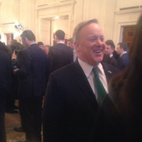 Sean Spicer was back in the White House for the shamrock ceremony