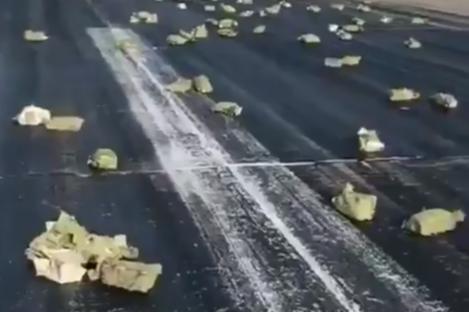 Gold bars littered the runway in Yakutsk